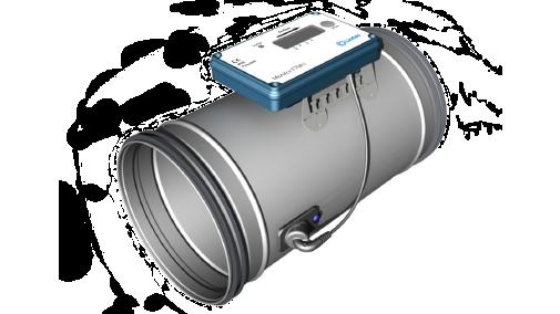 UltraLink mäter noggrant luftflödet, temperaturen och trycket utan något ökat tryckfall i ventilationskanalen